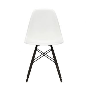 DSW Plastic Side Chair Black Maple Base