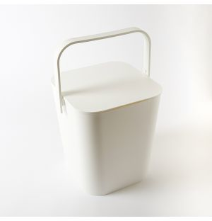 Tower Bucket & Lid White