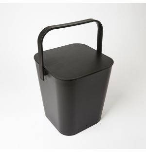 Tower Bucket & Lid Black