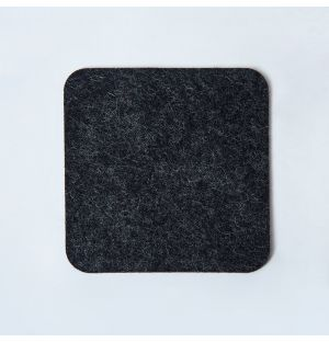 Felt Square Coaster Graphite