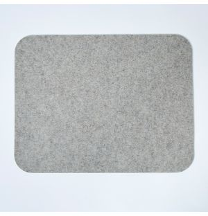 Felt Rectangular Placemat Light Grey