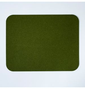 Felt Rectangular Placemat Olive Green