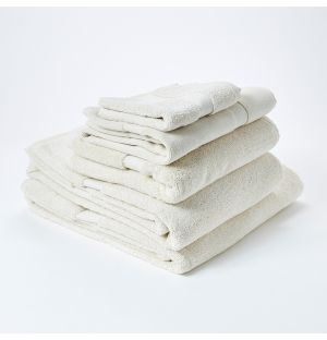 Premium Terry Towel Collection in Ivory