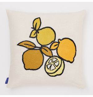 Limone Embroidered Cushion Cover in 45cm x 45cm