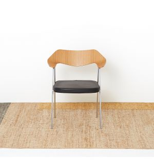 Colour Block Rug in Ochre Mix