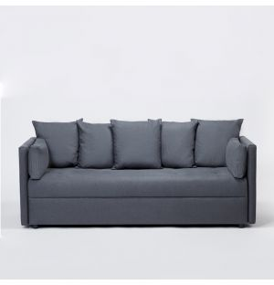 Compact Sofa Bed in Iron Linen