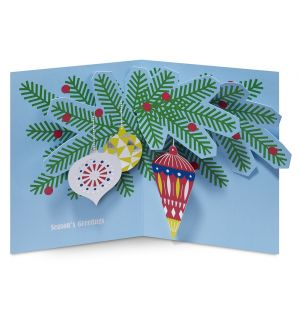Holiday Ornaments Christmas Cards Set of 8