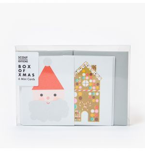Father Christmas Gingerbread House & Stocking Mini Cards Pack of 6