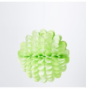 Large Ruffled Ball Christmas Decoration in Green