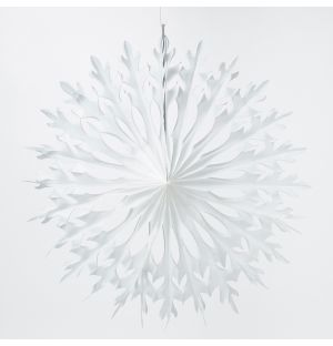 Large Snowflake Fan Christmas Decoration in White