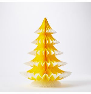 Tip Tree Christmas Decoration in Yellow 41cm