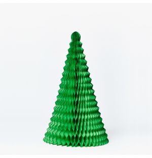 Large Cone Christmas Decoration in Green