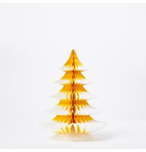 Tip Tree Christmas Decoration in Gold 25cm