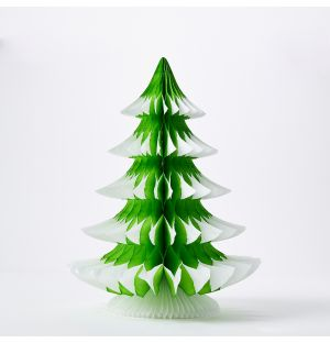 Tip Tree Christmas Decoration in Yellow Green 41cm