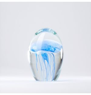 Small Jellyfish Paperweight in Blue Glow