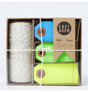 Tag + Twine Box in Silver & Cool Neon