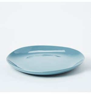 Pintura Washed Dinner Plate in Stone Blue