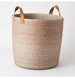 Tambo Basket with Leather Handles