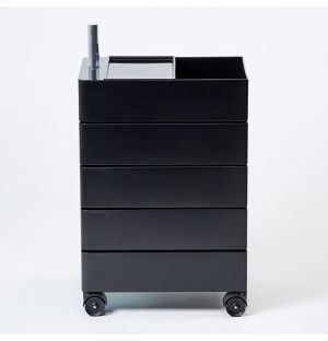 360° 5-Drawer Unit in Black