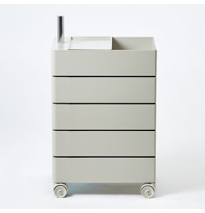 360° 5-Drawer Unit in Light Grey