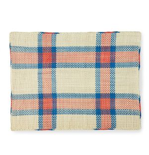 Iraca Placemat in Red & Blue