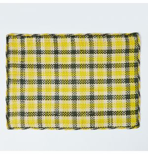Iraca Placemat in Green & Yellow