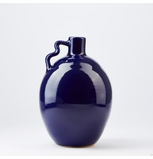 Squiggle Handle Vase in Blue
