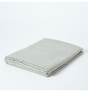 Linen Tablecloth in Blue Grey