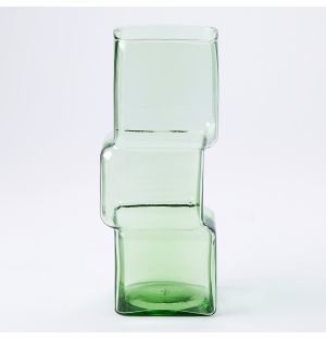 Tall Cube Vase in Green