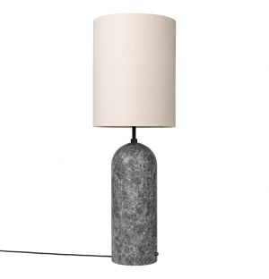 Extra Large Gravity Floor Lamp in Grey Marble & Canvas