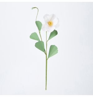 Japanese Anemone with Bud Paper Stem