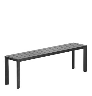 Highline Outdoor Bench in Black