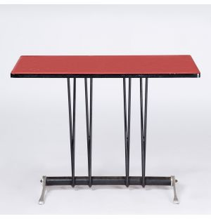 Vintage Bistro Table in Red