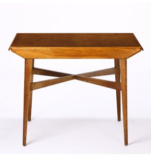 Vintage Teak Table with Central Extension
