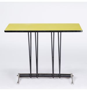 Vintage Bistro Table in Yellow