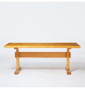 Vintage Les Arcs Dining Table in Pine