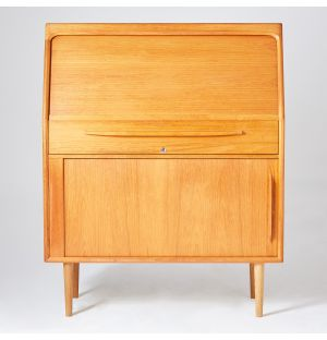 Vintage Danish Wall Secretary in Teak