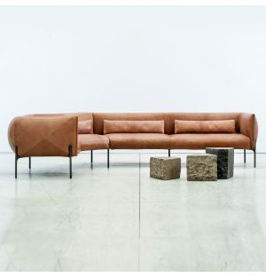 Otto Corner Sofa in Tan Leather