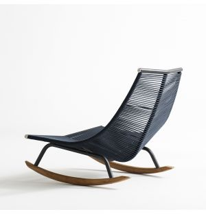 LAZE 003 Rocking Chair in Smoke & Blue