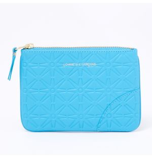 Colour Embossed B Coin Purse in Blue