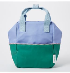 Small Colour Block Backpack in Blue