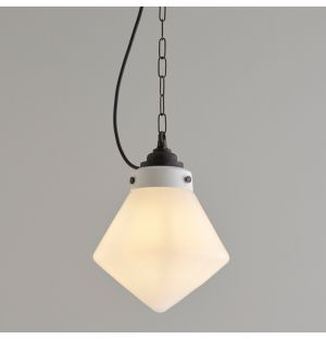 Point Pendant Light in Opal & Weathered Brass