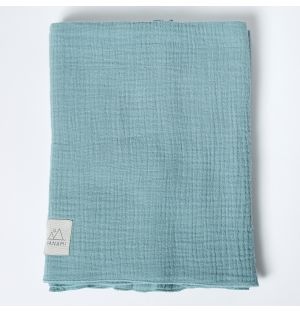 Cotton Muslin Blanket in Mint