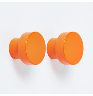 Hobson Knob in Orange Set of 2