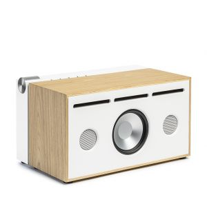 PR/01 Alu Speaker in White & Oak