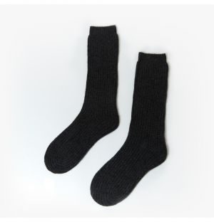 Women's Pure Cashmere Bed Socks in Carbon
