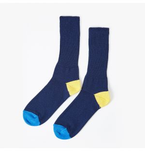 Exclusive Socks in Navy, Yellow & Blue