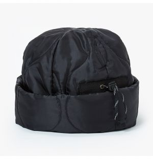 Military Quilt Watch Cap in Black