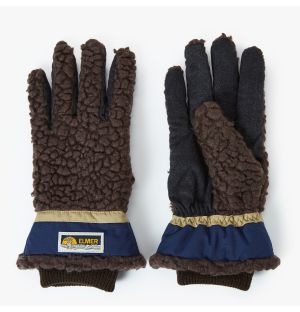 Shearling Gloves in Chocolate