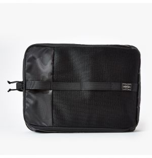 Large Porter Pouch in Black Camo